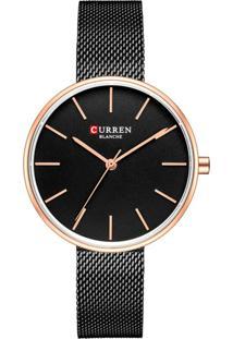Relógio Curren Analógico C9042L Preto