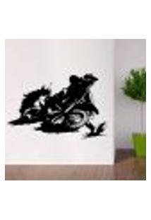 Adesivo De Parede Esporte Motocross - G 138X90Cm
