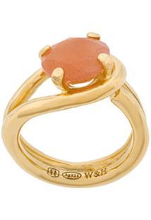 Wouters & Hendrix Anel 'Technofossils' De Prata Banhada A Ouro E Cristal - Metálico