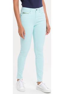 Calça Color Five Pockets High R Skinny - Verde Claro - 38