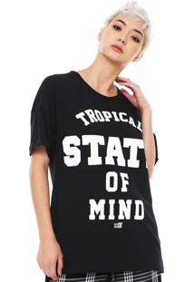 Camiseta Ellus 2Nd Floor College Preta