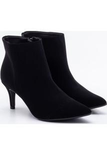 Ankle Boot Bebecê Nobuck Preta 34