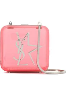 Saint Laurent Transparent Crossbody Bag - Rosa