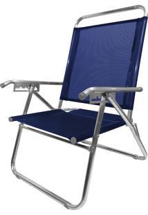 Cadeira De Alumínio Reclinável Zaka King Até 120Kg