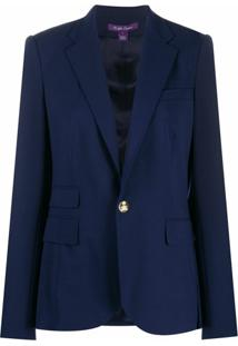 Ralph Lauren Collection Jaqueta Slim Parker - Azul