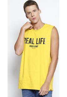 """Regata """"Real Life"""" - Amarela & Preta - Colccicolcci"""