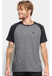 Camiseta Dc Shoes Esp Raglan Moline Masculina - Masculino-Preto