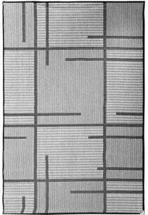 Tapete Sisllê Geométrico V Retangular Polipropileno (100X150) Preto E Cinza