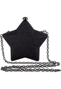 Bolsa Clutch Com Alças Em Corrente Estrela