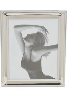 Porta Retrato De Aço Para Foto 10X15Cm Prateado 7915 Prestige