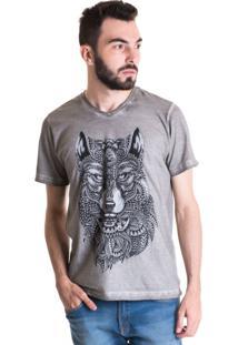 Camiseta Konciny Estonada 33001 Cinza Claro