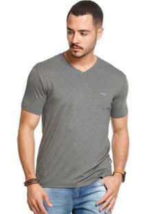 Camiseta Manga Curta Vlcs 18715 Masculina - Masculino-Cinza