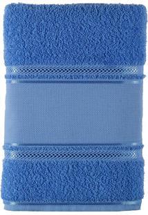 Toalha De Banho 100% Algodão 70X135 Criativa-Bordar - Teka - Azul Claro