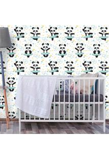 Papel De Parede Panda Ballet Soft