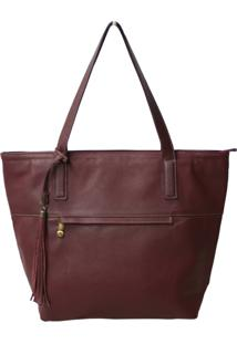 Bolsa Allegra Shopper Bordô