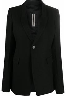 Rick Owens Tailored Blazer - Preto