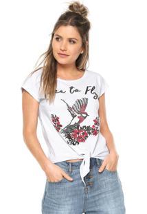 Camiseta Fiveblu Amarração Branca