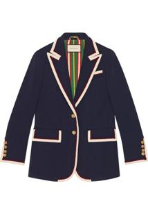 Gucci Stretch Viscose Jacket - Azul