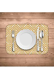 Jogo Americano Wevans Abstract Yellow