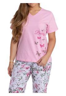 Pijama Capri Floral Kanto Dos Sonhos (1029) 100% Algodão