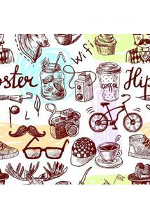 Papel De Parede Adesivo Hipster