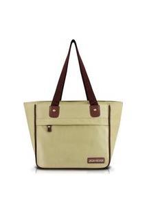 Bolsa Shopper Lisa Jacki Design Essencial Iii Bege