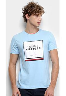 Camiseta Tommy Hilfiger New York Masculina - Masculino-Azul Claro