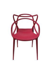 Cadeira Master Allegra Polipropileno Cereja - 38027 Preto