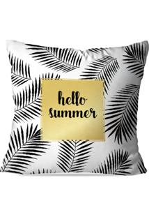 Capa De Almofada Love Decor Hello Summer Multicolorida - Cinza - Dafiti