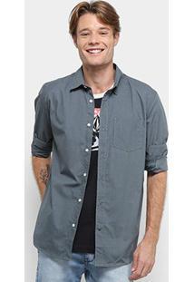 Camisa Volcom Everett Solid Manga Longa - Masculina - Masculino