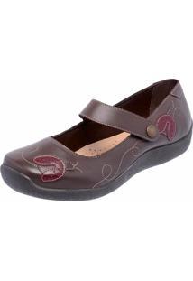 Sapatilha Casual Conforto Em Couro Dr Shoes Café - Tricae