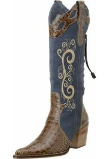 Bota Capelli Country - Feminino-Azul