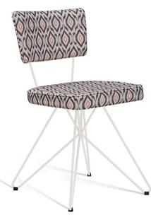 Cadeira Butterfly Retro Branco E Cinza