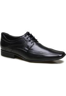Sapato Social Em Couro Calvest Diplomata - Masculino-Preto