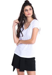 Camiseta Urban96 Branca Botões