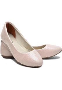 Sapatilha Ded Calçados Bico Fino Verniz Feminina - Feminino-Rosa