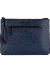 Salvatore Ferragamo Slim Clutch - Azul