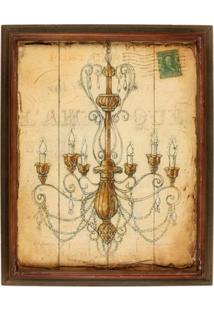 Quadro Decorativo De Parede Sheen Com Moldura - Unissex