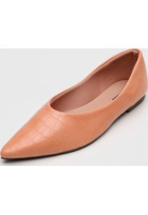 Sapatilha Dafiti Shoes Croco Coral - Coral - Feminino - Dafiti