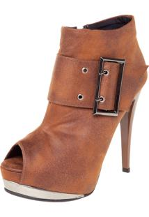 Ankle Boot Crysalis Fivela Caramelo