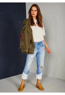Calça Jeans Boyfriend Cintura Baixa Premium Jeans