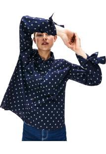 Camisa Lacoste Live Loose Fit Azul Marinho