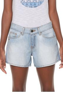 Short Jeans Rip Curl Reto Estonado Azul