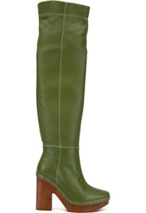 Jacquemus Bota Over The Knee - Verde