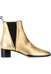 Giuseppe Zanotti Ankle Boot Com Recortes - Dourado