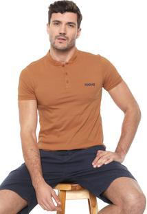 Camisa Polo Iódice Reta Logo Laranja