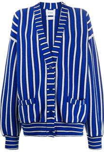 Barrie Cardigan Oversized Listrado - Azul