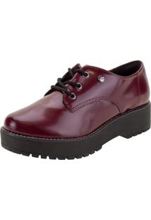 Sapato Feminino Oxford Via Marte - 207305 Vinho 01 35