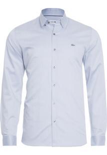 Camisa Masculina Slim Fit - Cinza Claro