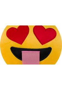Almofada Capital Do Enxoval Emoji Apaixonado Loucamente Estampado